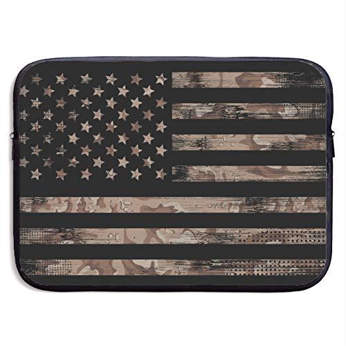 13-15 Inch MacBook Pro/MacBook Air/Notebook Computer,Neoprene Laptop Sleeve Bag-American Flag Desert Camo Notebook Bag Case