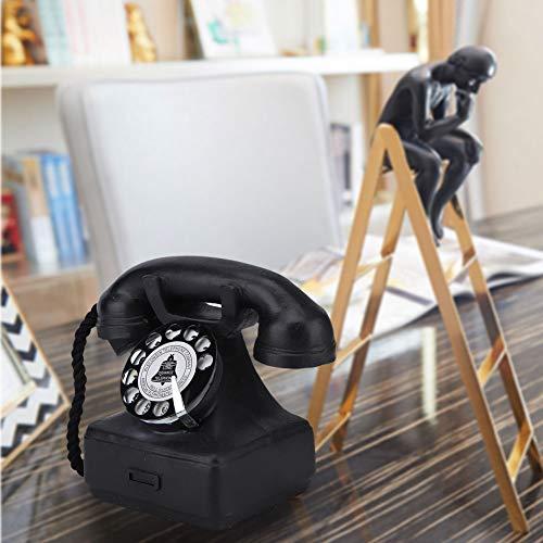 Bediffer Estilo de los años 70, Retro Teléfono Props Superficie Suave Viejo Teléfono Encanto Adornos de Escritorio para Fotografo Props para Cosplay