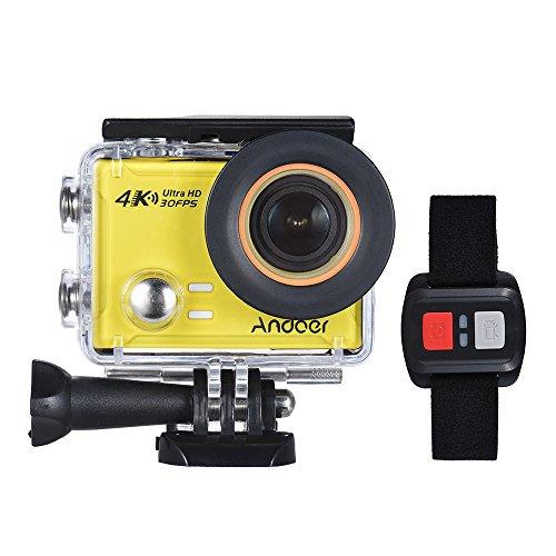 Andoer AN100 4K WiFi Azione Sportiva Fotocamera 30MP 1080P / 120fps 2.0' Schermo IPS 170 ° Largo Angolo Impermeabile 45m Supporto Gyro G-Sensor FPV Mic Esterno con Telecomando Custodia Rigida