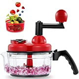 Geedel Hand Food Chopper, Vegetable Quick Chopper Manual Food Processor, Easy To Clean Food Dicer...