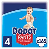 Dodot Pants Pañal - Braguita Talla 4, 165 Pañales, 9 kg - 15 kg, Pañal - Braguita Con Ajuste 360° Anti-fugas