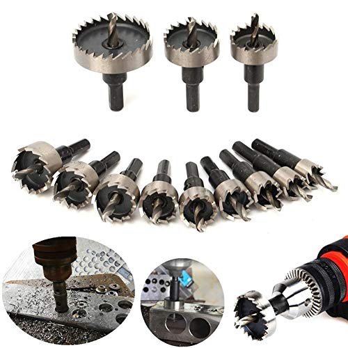 Hole Saw Drill Bits Tools 1pcs M35 12mm-65mm Carbide Tip HSS Hole Saw Drill Bit for Metal/Alloy/Iron/Stainless Steel Cutting Drilling Hole Opener Hole Tool (Hole Diameter : 19mm)