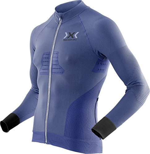 X Bionic Biking Race Evo Ow LG-SL, Maillot Homme S Marina Blu/Anthraci