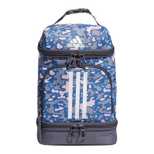 adidas Excel 2 Insulated Lunch Bag, Flow Blur Clear Pink - Focus Blue/White, One Size