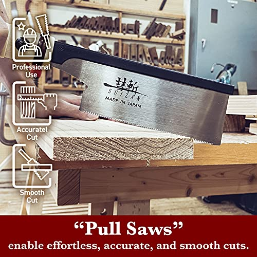 SUIZAN Japanese Dozuki Dovetail Hand Saw 6 Inch Pull Saw for woodworking