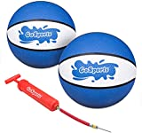 GoSports Water Basketballs 2 Pack - Choose Between Size 3 and Size 6 - Great for Swimming Poo Basketball Hoops