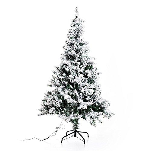 homcom Albero di Natale Artificiale Foltissimo in Pet Verde Altezza 150cm con LED Luci