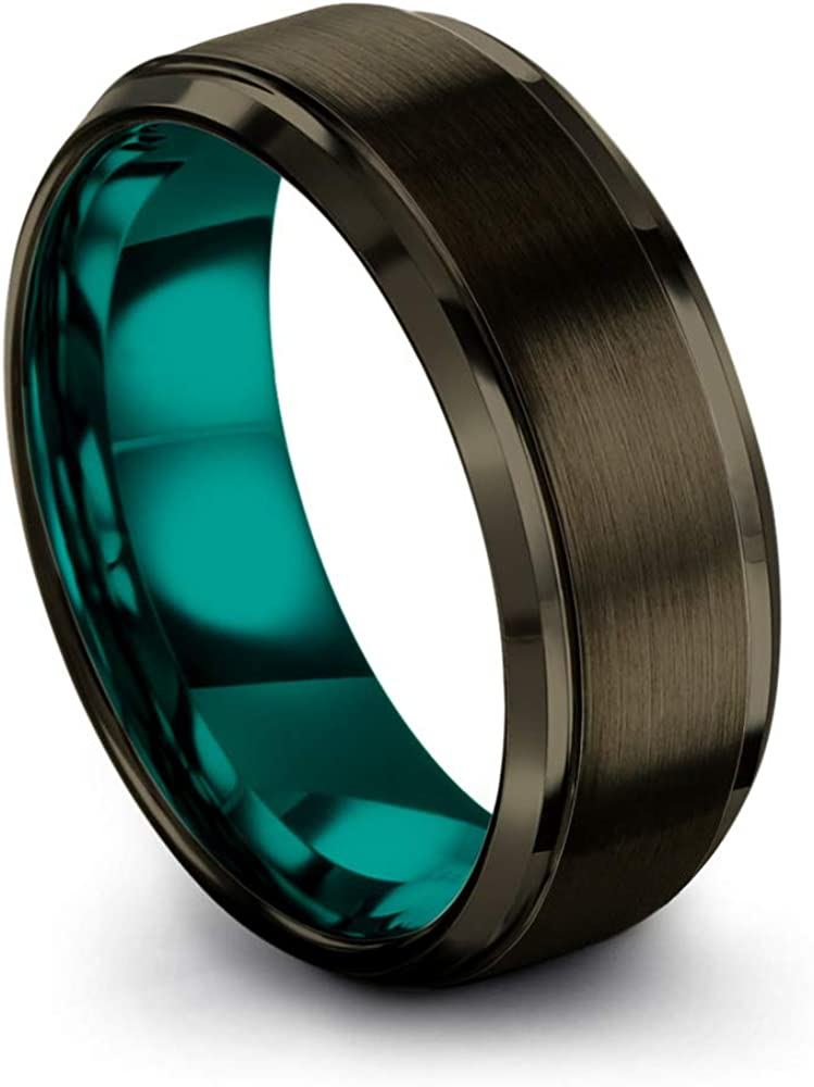 Chroma Color Collection Tungsten Carbide Wedding Max Max 60% OFF 60% OFF 8mm Ring f Band
