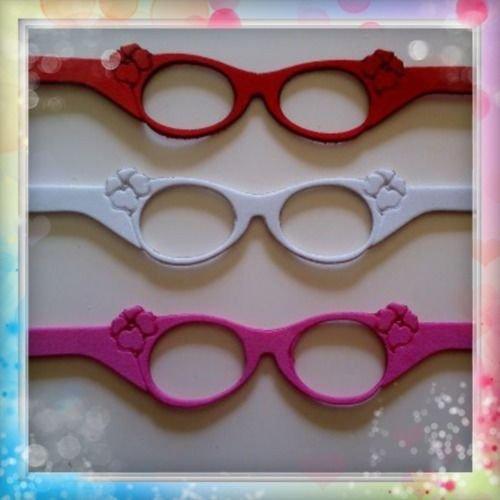 6 gafas de goma eva ideal para fofuchas o cualquier muñeca (Para bolas de 3-4-5...