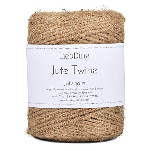 LiebDing Jutegarn - Wundervolle Juteschnur aus Einer traditionellen Zwirnerei in England - Jute Garn in Natur