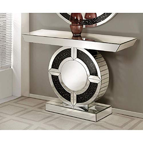 Console Table, Console Table for Living Room, Vktech Console Table in Mirrored & Faux Gemstones, Demonstrates Sophisticated, Graceful, Elegant Style with its Unique Design