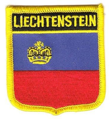 Wappen Aufnäher Patch Liechtenstein Flagge Fahne NEU