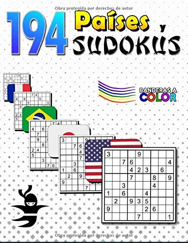 194 Países y Sudokus: Geografía y Matemáticas | Libro de Actividades para Niños y Adultos | Banderas a Color, Continentes, Población y Capitales (Diviértete y Aprende con FunnyJoy)