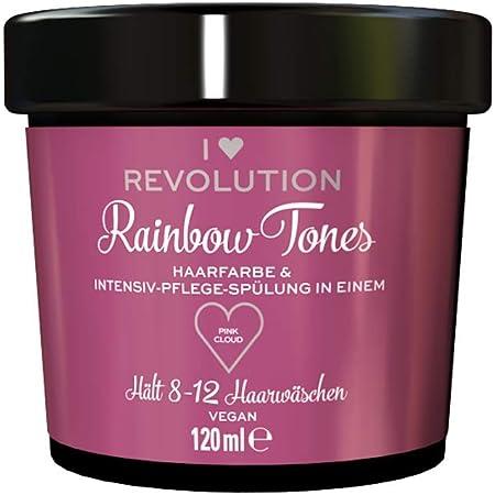 I Heart Revolution Rainbow Tones Pink Cloud – Tinte para el cabello semi permanente y acondicionador en uno, lavable con 8-12 lavados de pelo, vegano, ...