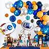 パーティー飾り 風船 宇宙テーマ 91点セット 宇宙飛行士風船 ロケット風船 ハニカムボール お祝い日 誕生日 パーティー デコレーション 写真撮影背景