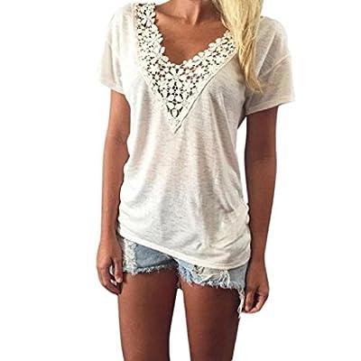 HGWXX7 Women Casual Short Sleeve Button Plus Size Cotton Blouse Tops T Shirt