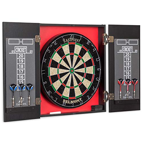 EastPoint Sports Belmont Bristle Dartboard and Cabinet Set - Features Easy Assembly - Complete with...