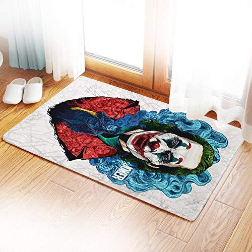 Joker Felpudo Fondo de Goma Harley Quinn Podómetro Lavable Colorido Diseño Duradero y de Calidad Antideslizante Respetuoso con el Medio Ambiente-J_50 * 80
