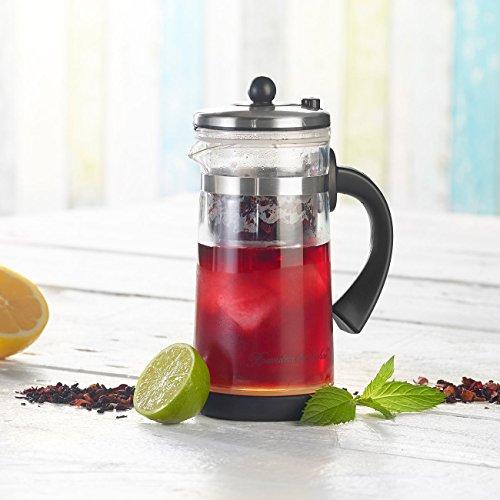Rosenstein & Söhne Eistee Teebereiter: Eistee- & Tee-Bereiter-Kanne mit Komfort-Brühfunktion, 700ml (Eisteezubereiter) - 2