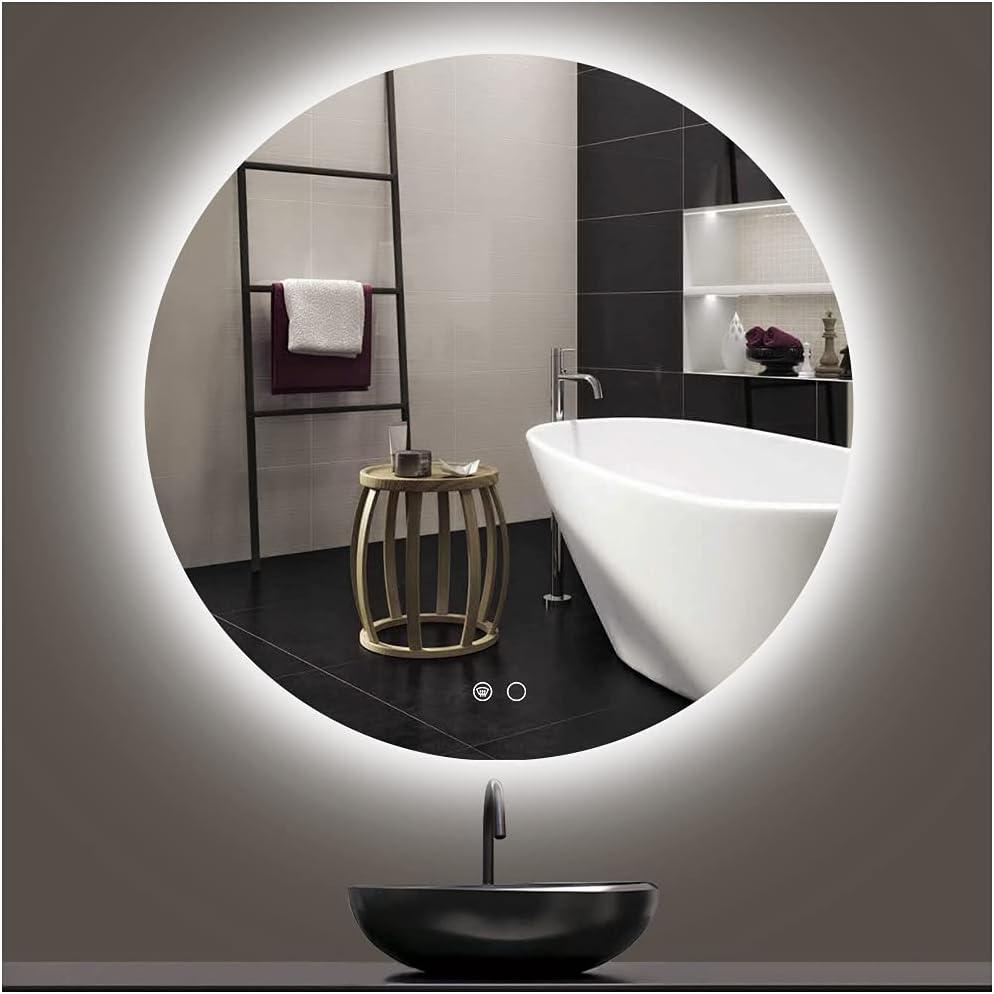 Keonjinn LED Backlit Mirror Round Bathroom Vanity 32 wholesale Deluxe inch