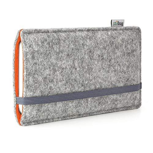 stilbag Funda de Fieltro 'Finn' para Sony Xperia Z5 Premium - Color: Gris/Naranja