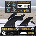 Ho Stevie! Fiberglass Reinforced Polymer Surfboard Fins - Quad (4 Fins) FCS or Futures Sizes, with Fin Bag, Screws, Wax… 8 🏄♂️ QUAD FINS fit any surfboard that uses FCS (original or FCS II) or Futures fins (select which kind) - whether it's a shortboard, funboard, or longboard. 🌊 BALANCED FIN TEMPLATE is suited for all types of waves. Hit the accelerator at your favorite point break, boost some airs, or lay into some wedges at the nearest beachbreak. 🎁 INCLUDES EVERYTHING YOU NEED: 4 surfboard fins, wax comb / fin key / bottle opener, fin screws, and travel case.