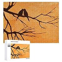 INOV 鳥 絵画 ジグソーパズル 木製パズル 500ピース 38 x 52cm 人気 パズル 大人、子供向け 教育玩具 ストレス解消 ギフト プレゼントpuzzle
