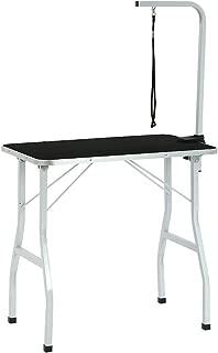BestPet Dog Grooming Table Adjustable Heavy Duty Pet Cat Grooming Table with Arm/Noose