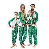 DISCOUNTL Pijama de Navidad para familia, 2 piezas, pijama de Navidad con diseño de papá y mamá. Conjunto de pijama de manga larga + pantalones largos, albornoz para mujer.