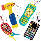 My First Baby - Learning Music Playset Bundle Smartphone with Car Keys Remote TV Control and Hammer - Pretend N Play with Storage Bag