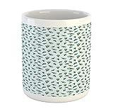 N\A Taza cremosa, Conos de Helado de Estilo de Dibujos Animados con una rodaja de limón en la Parte Superior, Taza de café de cerámica para Bebidas de té de Agua, 11 oz, Crema Azul pálido