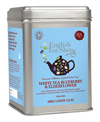 English Tea Shop - White Tea Blueberry & Elderflower, BIO, Loser Tee, 100g Dose