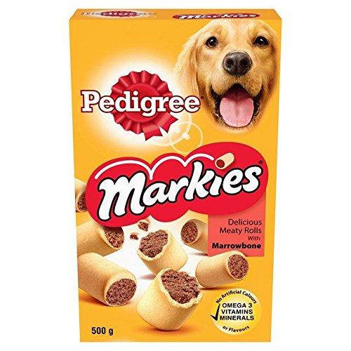 Pedigree Markies Marrowbone - Rotoli di carni, 500 g, confezione da 4