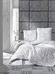 ZIRVEHOME 135x200 cm Set. Grau Weiß