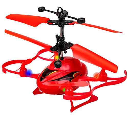 Iunser Mini juguete de detección de gestos de gravedad para niños Dron, niños Mini Uav Avión de detección de gestos de gravedad Juguete de luz colorida