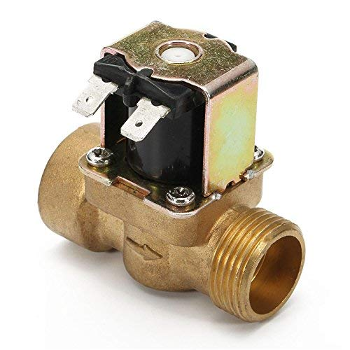FYYONG. Valvola a solenoide elettrica da 3/4 pollici 12V DC VDC Slim Brass NPSM Gas Air Air N/C