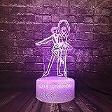 Kawaii Ball Dance Ballet Party Night Light 3D LED USB Lámpara de mesa regalo de cumpleaños para niños decoración de la habitación junto a la cama