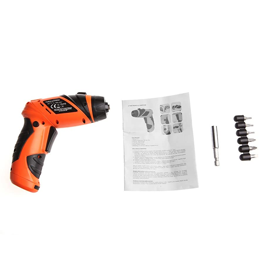 Kocome 6V Portable Screwdriver Electric Drill Battery Operated Cordless Wireless Screw