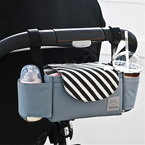 Mode Multifunctionele Baby Kinderwagen Tas Opknoping Kinderwagen Organizer Nieuwe Cup Luiertas Multi Compartiment Tassen Opbergmandje Zwarte streep