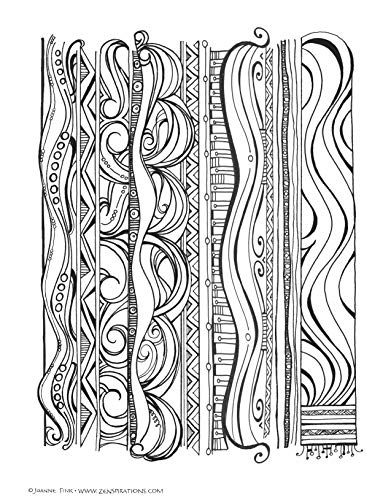 Zenspirations Coloring Book Abstract & Geometric Designs: Create, Color, Pattern, Play! (Design Originals) 30 Beautiful, Intricately Textured Patterns to Inspire Your Creativity and Self-Expression
