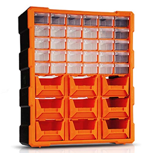 LZL Drawer Type Parts Cabinet Tool Boxes Building Block Electronic Component Combined Tool Chests Hardware Multi-Layer Toolbox (Color : Orange)