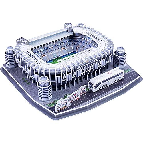Rompecabezas Tridimensional 3D, Rompecabezas del Estadio de fútbol Madrid Santiago Bernabéu, Juegos del Bernabeu Rompecabezas de Modelos de construcción, Kit de construcción de Modelos