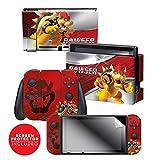 Controller Gear Nintendo Switch Skin & Screen Protector Set - Super Mario - Bowser Smash - Nintendo Switch