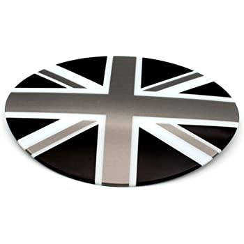 Gas Tank Door Fuel Cap HDX Black//Gray Union Jack UK Flag ABS Sticker Cover Trim Cap for Mini Cooper ONE S JCW R56 Hatchback R57 Covertible R58 Coupe R59 Roadster 2010-2016