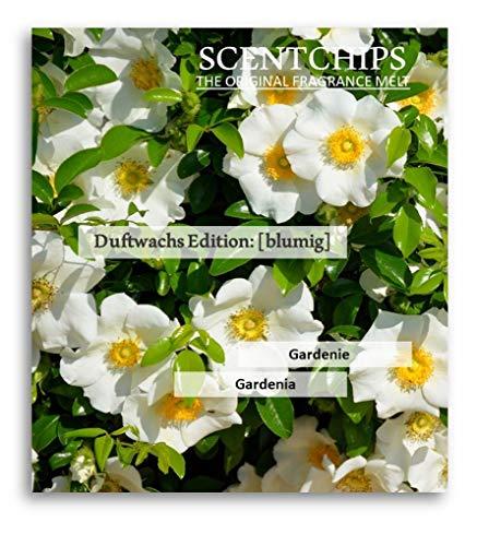 Feste Feiern Duftwachs Scentchips I 12x Aroma Gardenie (Gardenia) Raumduft Melts Soja Wachs Wax Duft Tards für Aromalampe Duftlampe Diffuser