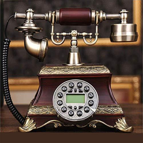 LDDZB Teléfono de jardín europeo retro vintage fijo para el hogar, oficina, teléfono fijo (color : A) (color: A) (color: A) (color: A)