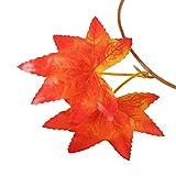 WINOMO 2 Stücke Herbstgirlande mit Ahorn Blättern Tischdeko künstlich Fensterdeko 2.4M - 7