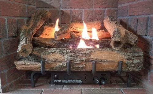 EverWarm Hearth & Home Low Country Timber 30' Vent-Free Log Set with Millivolt Control - LP