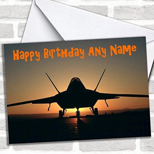 Vliegtuig bij zonsondergang Aangepaste verjaardagswenskaart- Verjaardagskaarten/Vliegtuigen, Treinen & Auto's Kaarten