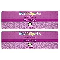 トゥインクルアイズ ピーチシリーズ TwinkleEyes 1day Peach series ワンデー 【カラー】ドーリーハニー 【PWR】-2.75 10枚入 2箱